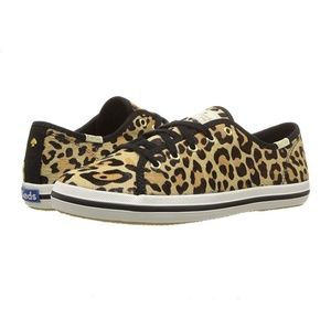 Kate Spade x Keds Leopard Calf Hair Sneakers - 7.5
